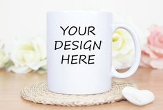 Mug Mockup, Mockup Mug, Mockup Mug,Blank White Coffee, Blank Mug Template… Mug Template, Templates, Blank White, Personalized Mugs, White Coffee, Mockup, Your Design, Cups, Tableware
