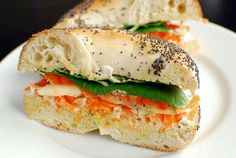 I recently fell in love with tofu spread on bagels. Tastes better than cream cheese! Bagel Sandwich, Tofu, Sandwiches, Vegan Recipes, Bagels, Bread, Cheese, Cooking, Amazing