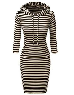 Shop Black White Hooded Striped Sweatshirt Dress online. SheIn offers Black White Hooded Striped Sweatshirt Dress & more to fit your fashionable needs.