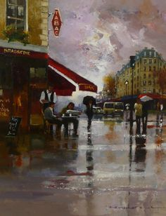 Gallery :: Peter Fennell - OIL :: 26 Paris, Wallpaper, Gallery, Painting, Oil, Scenery, Paintings, How To Paint, Montmartre Paris
