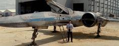 J.J. Abrams Reveals X-Wing in STAR WARS: EPISODE VII Set Video