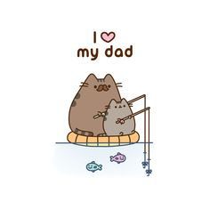 Send this aborable Pusheen the cat card, great for farthers day, birthdays or at any time Pikachu Pikachu, Cat Pokemon, Cute Animal Drawings, Cute Drawings, Pusheen Love, Pusheen Stuff, Cat Hug, Cat Background, I Love My Dad
