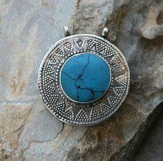 Turquoise Afghan pendant - look4treasures on Etsy
