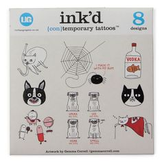 I made it with my bum!  lol!   Ink'd contemporary tattoos - Gemma Correll designs