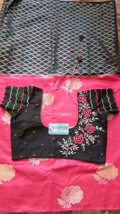 Embroidery Blouses, Embroidery Suits Design, Embroidery Works, Hand Embroidery, Machine Embroidery, Embroidery Designs, Cotton Saree Blouse Designs, Wedding Saree Blouse Designs, Blouse Back Neck Designs
