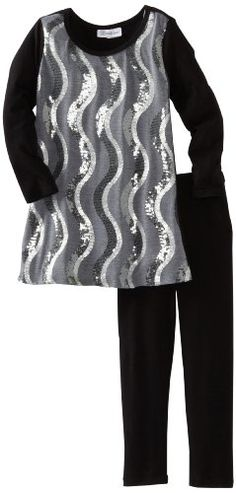 Bonnie Jean Girls 2-6X Top with Sequin Front To Knit Legging $14.92 #topseller