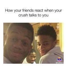 18 Crush Memes So True. Check down for some true crush memes that all have once…. Funny Crush Memes, Funny Black Memes, Crush Humor, Cute Memes, Stupid Funny Memes, Funny Relatable Memes, Funniest Memes, Funny Humor, Inappropriate Memes