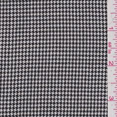 Black Houndstooth Linen (FFC)
