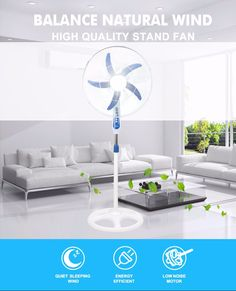 High quality 20 inch 5 blades big stand fan with strong wind