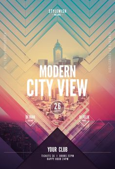 Modern City View Flyer by styleWish (Download PSD file)