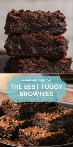 These brownies are so fudgy and chocolatey they will soon be your favorite brownies ever. Rich and decadent and totally divine. Brownie Recipe Video, Fudgy Brownie Recipe, Fudgy Brownies, Brownie Recipes, Cocoa Brownies, Homemade Brownies, Fun Baking Recipes, Cooking Recipes, Delicious Desserts