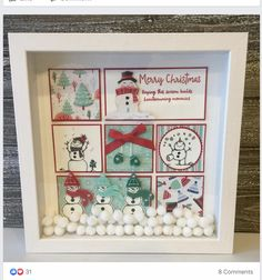 Christmas Projects, Christmas Diy, Holiday, 3d Paper Crafts, Diy Crafts, Craft Show Ideas, Scrapbooking Layouts, Shadow Box, Projects To Try
