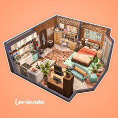 Sims 4 House Plans, Sims 4 House Building, Sims 4 Houses Layout, House Layouts, Student Apartment, Student House, Sims 4 Loft, Muebles Sims 4 Cc, Sims 4 House Design