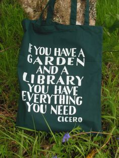 Cicero on gardens and libraries.
