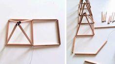 Make a Square then Pyramid for DIY Copper Moravian Star Pendant Light Fixture