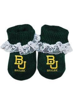Baylor University Lace Baby Booties | Baylor University