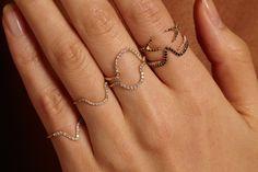 Micropave Open Diamond Ring