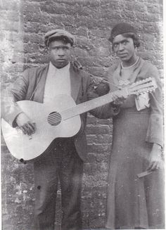 William Samuel McTell, better known as Blind Willie McTell (May 5, 1898 (sometimes reported as 1901 or even 1903) – 1959), was an influential American blues singer, songwriter, and guitarist. He was a twelve-string finger picking Piedmont (or East Coast) blues (ragtime) guitarist, and recorded 149 songs between 1927 and 1956…  As Bob Dylan put it:  Them charcoal gypsy maidens Can strut their feathers well But nobody can sing the blues Like Blind Willie McTell  Photo: Willie and Kate McTel