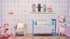 SIMS 4 Nursery CC ListRequested by louisthecuteone Picture #01 1- Simply Elegant Curtains by allisas 2- Curtains with bows by soloriya 3- Diapers and Toys box by mysimlifefou 4- Baby Wipe by...