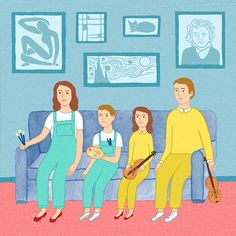 """A piece the New Yorker website on the article """"What Makes a Family of Artists"""" written by Maria Konnikova. - Rachel Levit"""
