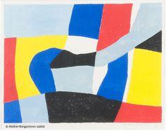 Ernst Mether-Borgström: Utopia, 1976, guassi, 23x30 cm - Mether-Borgströmin säätiö 2016