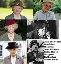 Miss Marple. I've yet to see Gracie Fields, Margaret Rutherford is plain ol' hysterical, and I'm personally not very fond of Helen Hayes as Miss Marple. Angela Lansbury also played the role but only once so I didn't put her up. I love Joan Hickson, Geraldine McEwan and Julia McKenzie equally, there all so wonderful.
