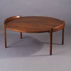 Jens Risom; #4035 Walnut and Teak Cocktail Table for Risom Design Inc., c1966.