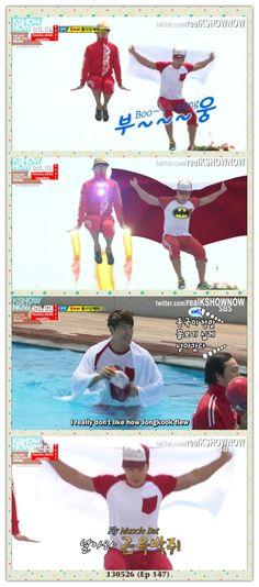 Kim Jong Kook and Haha - Flower boy episode #funny