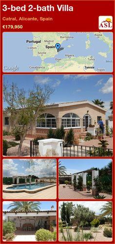 3-bed 2-bath Villa in Catral, Alicante, Spain ►€179,950 #PropertyForSaleInSpain
