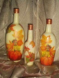 (46) Одноклассники Bottle Painting, Bottle Art, Bottle Crafts, Decoupage, Mixed Media, Decorative Bottles, Crafty, Glass, Dreams
