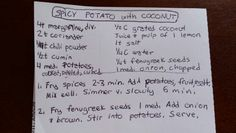 Spicy Coconut Potatoes   #potato #coconut  #southasia