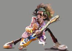 rock and roll caricatures | ... roll,and,rock,karikatur,karikaturen,musik,rock,keith richards,rolling