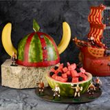 Many watermelon carving instructions