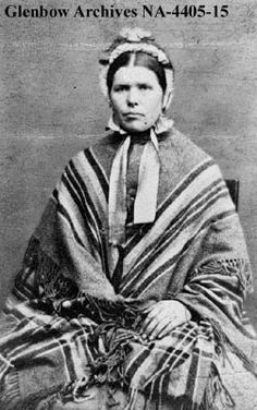 Scottish Metis woman with shawl, Red River, Manitoba. [1870s?] Date