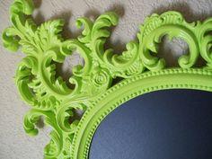 FRAMED CHALKBOARD-Any Color-Lime Green-Chalkboard-Lg Baroque Ornate Vintage Frame Magnetic Chalkboard-Vintage Wall Mirror-Kitchen Chalkboard. $174.00, via Etsy.