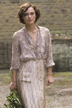 one of many beautiful outfits from Atonement. I think recreating this will be my weekend project.