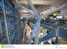 International Departure Hall. Interior Of  Heathrow Airport Terminal 5. New Building - Download From Over 39 Million High Quality Stock Photos, Images, Vectors. Sign up for FREE today. Image: 58919097
