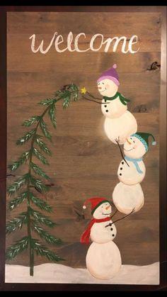 Christmas Wood Crafts, Christmas Signs, Christmas Decorations To Make, Rustic Christmas, Christmas Projects, Christmas Art, Winter Christmas, Holiday Crafts, Christmas Ornaments