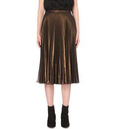 Sunray pleated midi skirt