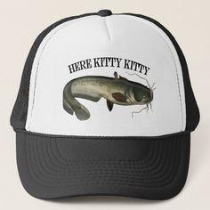 Funny Fishing Catfish Here Kitty Kitty Trucker Hat