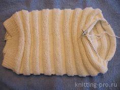 Круговое вязание на спицах с леской