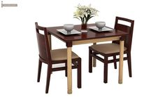 Adriel 2 Seater Dining Set (Mahogany Finish)-2