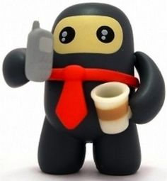 'Business Ninja' by Shawnimals. From his vinyl Ninjatown series produced by Kidrobot.