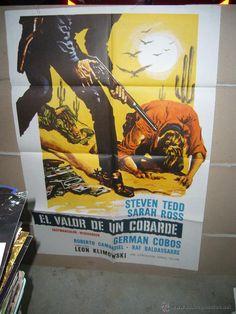 EL VALOR DE UN COBARDE STEVEN TEDD LEON KLIMOVSKY SPAGHETTI POSTER ORIGINAL 70X100 YY (261) - Foto 1