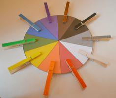 Tasche Color Wheel Farbabstimmung Vorschule Aktivität Bag Montessori Homeschool gebucht von howwelearnathome auf Etsy https://www.etsy.com/de/listing/164640788/tasche-color-wheel-farbabstimmung