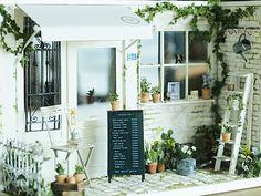 ••  vida ~ muebles hechos a mano de color natural: miniatura * Naturel Cafe Exterior