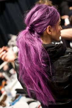 Pretty in Pastel. I love this. I with there was a hairspray that would turn your hair this color just for a night.