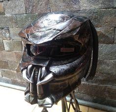 Alien Predator Helmet Street Fighter Mix Carbon and Roving Material  - DOT Approved by CelloShancangHelmet on Etsy