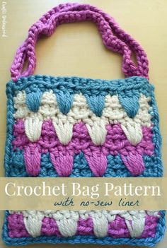 Free crochet pattern: Bag with No-Sew Liner (part 1) with tutorial by Underground Crafter for Crafts Unleashed for Consumer Crafts
