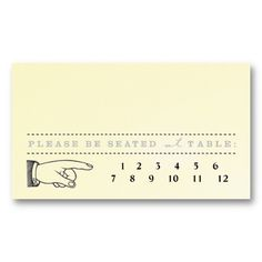 Vintage Ticket - Punch Out Escort Card Templates - 2 packs of 100 = 31.58 ea.